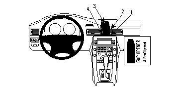 213447 Autohalterung Volvo S80