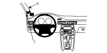 213455 Autohalterung Volvo S80