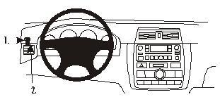 803069 Autohalterung Toyota Avensis Verso