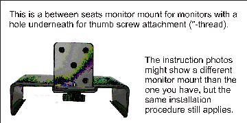 Bildschirm-Halterung zwischen den Sitzen Au