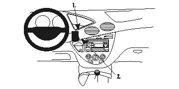 Verstärkt ProClip Ford Focus 99-04