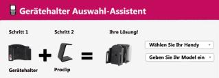 Brodit Gerätehalter Auswahl Assistent